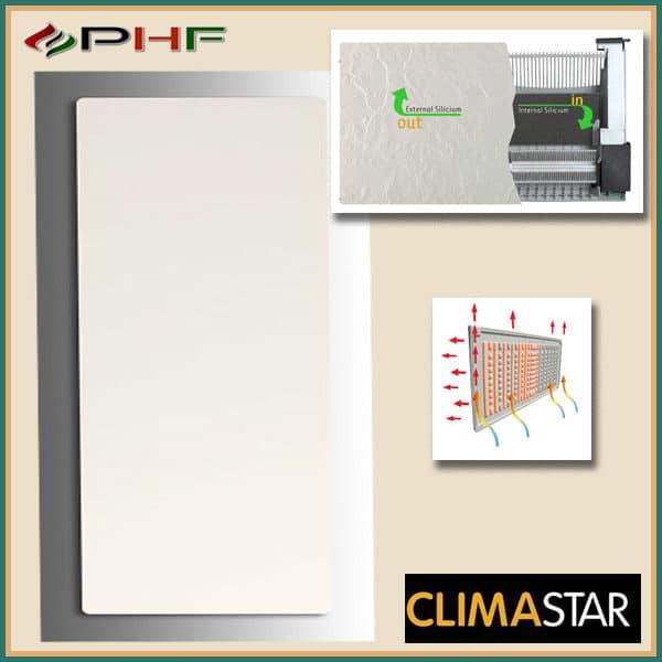 climastar smart touch fehér kasmír álló panel
