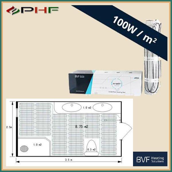 bvfhmat 100W/m2 fűtőszőnyeg