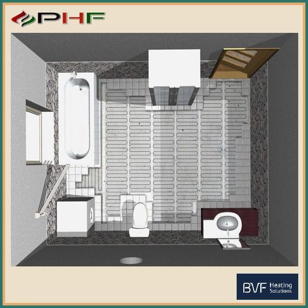 elektromos fűtőszőnyeg kivitelezése, padlófűtés